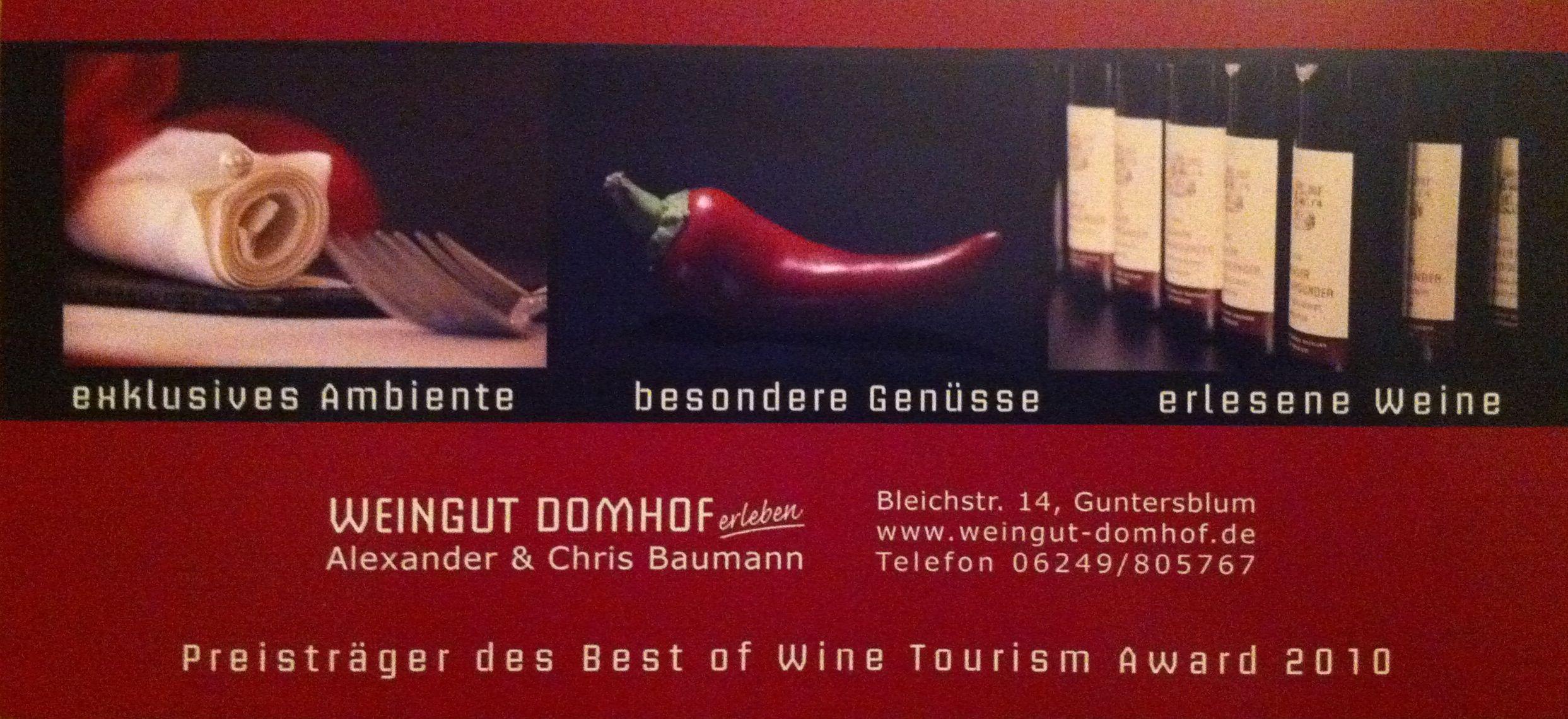 Web and Wine: Weingut Domhof