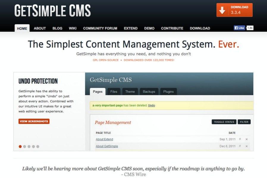 GetSimple CMS