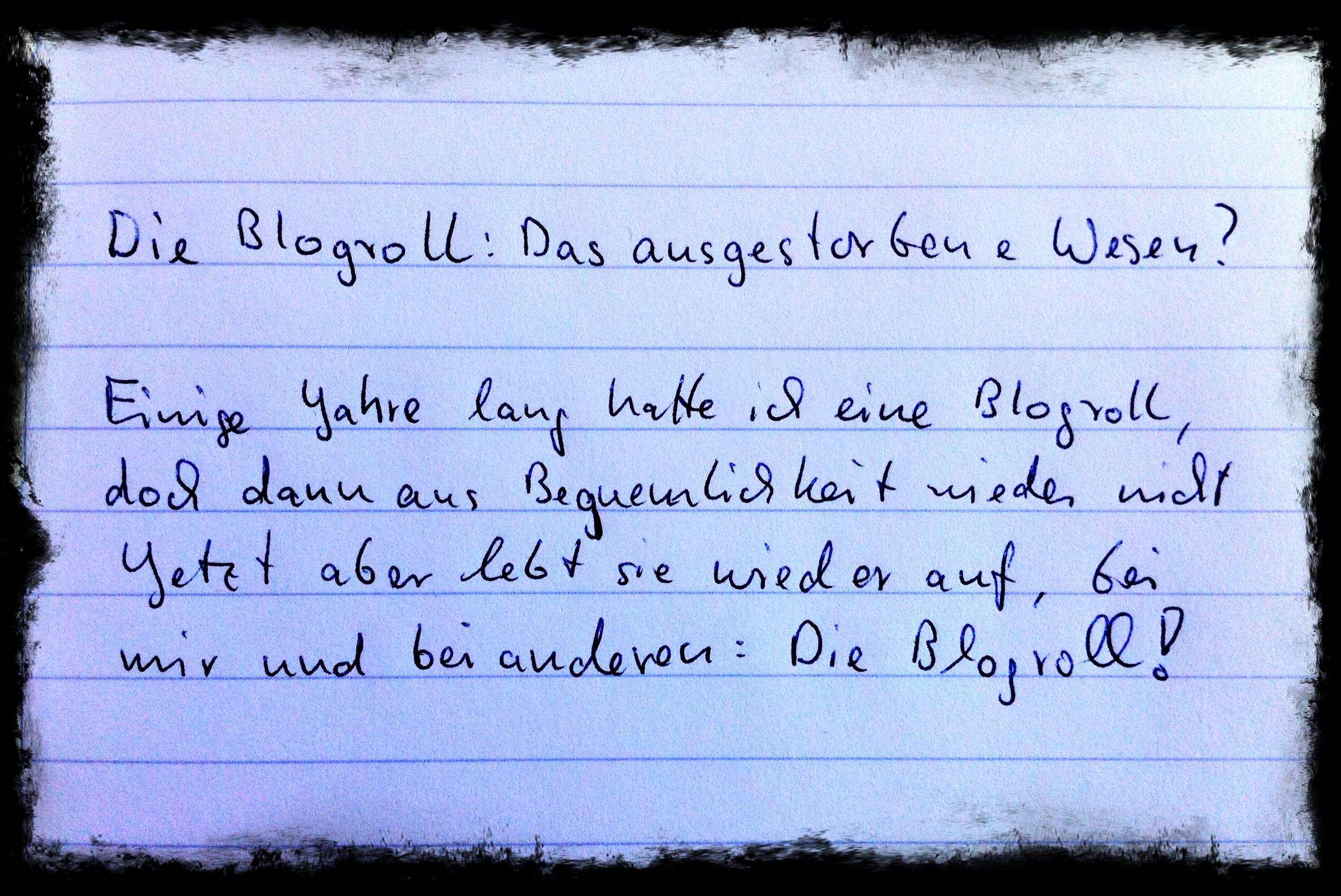Tim Krischaks Auswertung der Blogparade zur Blogroll