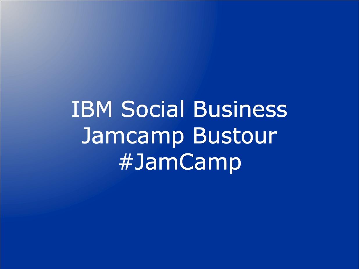 Mit dem Bus zum IBM Social Business JamCamp
