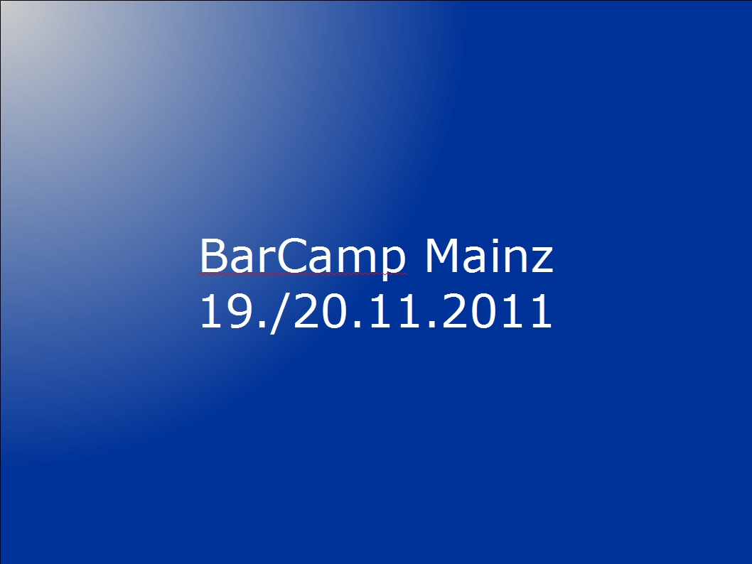 BarCamp Mainz 2011