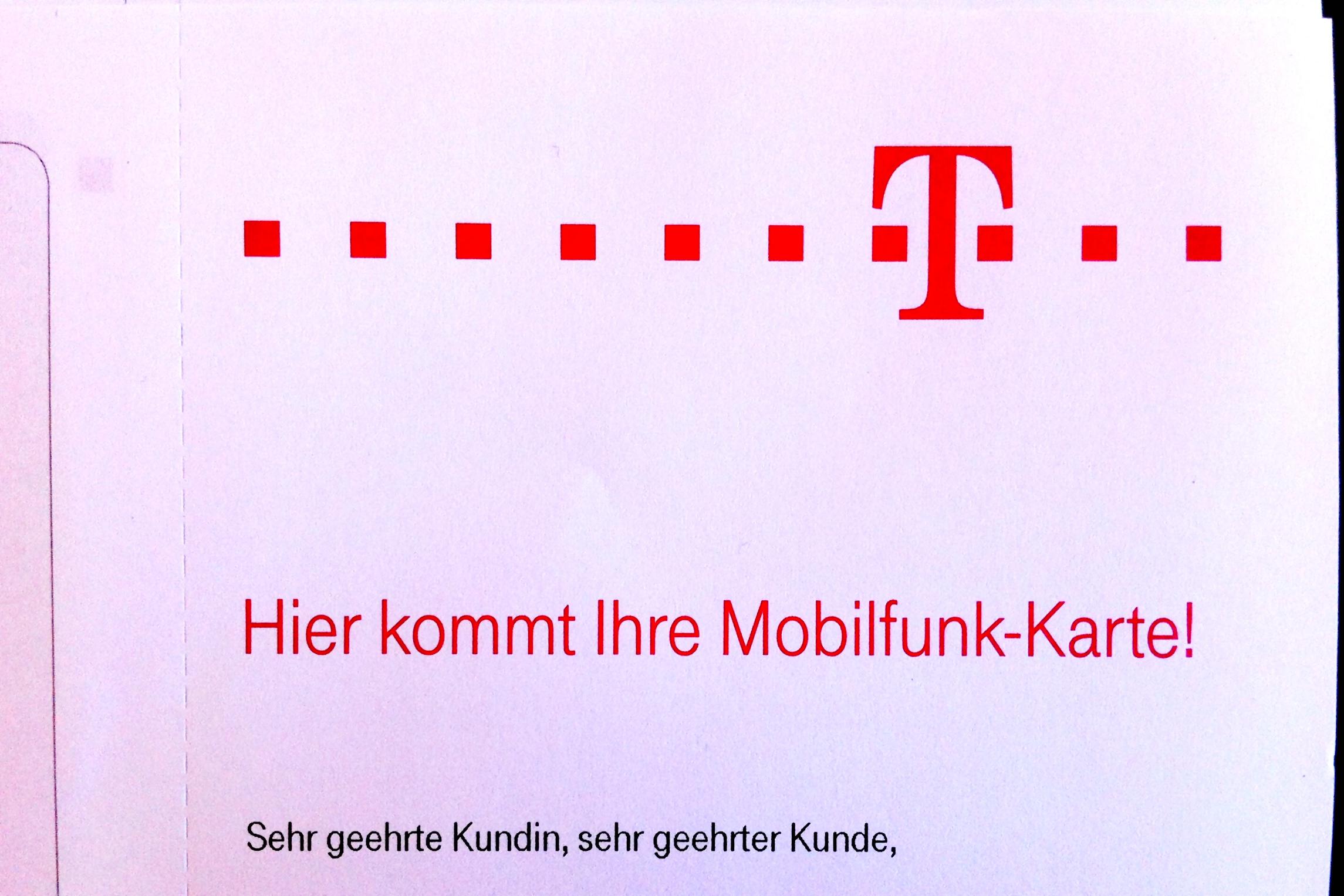 Ein offener mobiler Brief an die Telekom