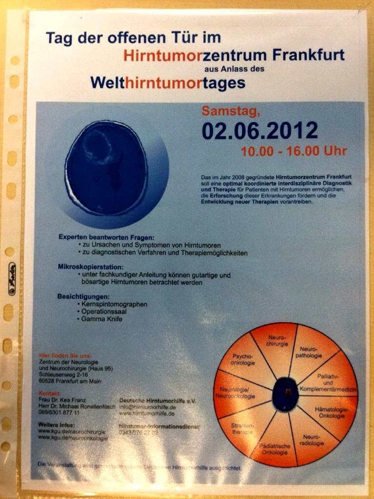 Tag der offenene Tür im Hirntumorzentrum Frankfurt