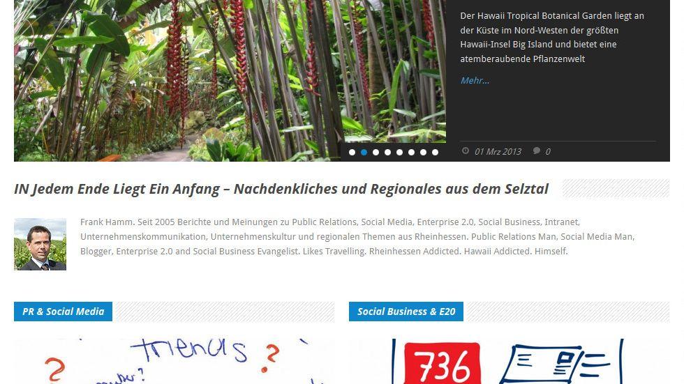 Neue Startseite für INJELEA-Blog