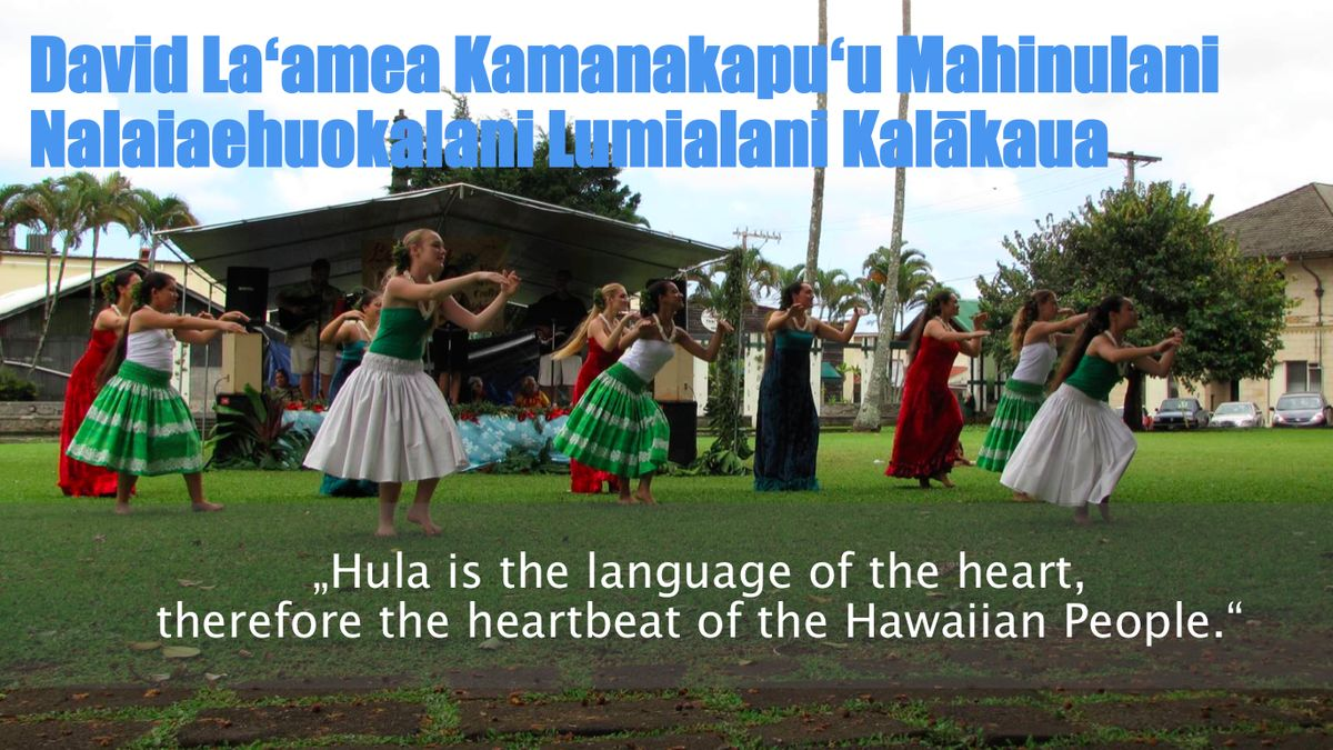 Manuela und Frank mit Hawaii und Hula