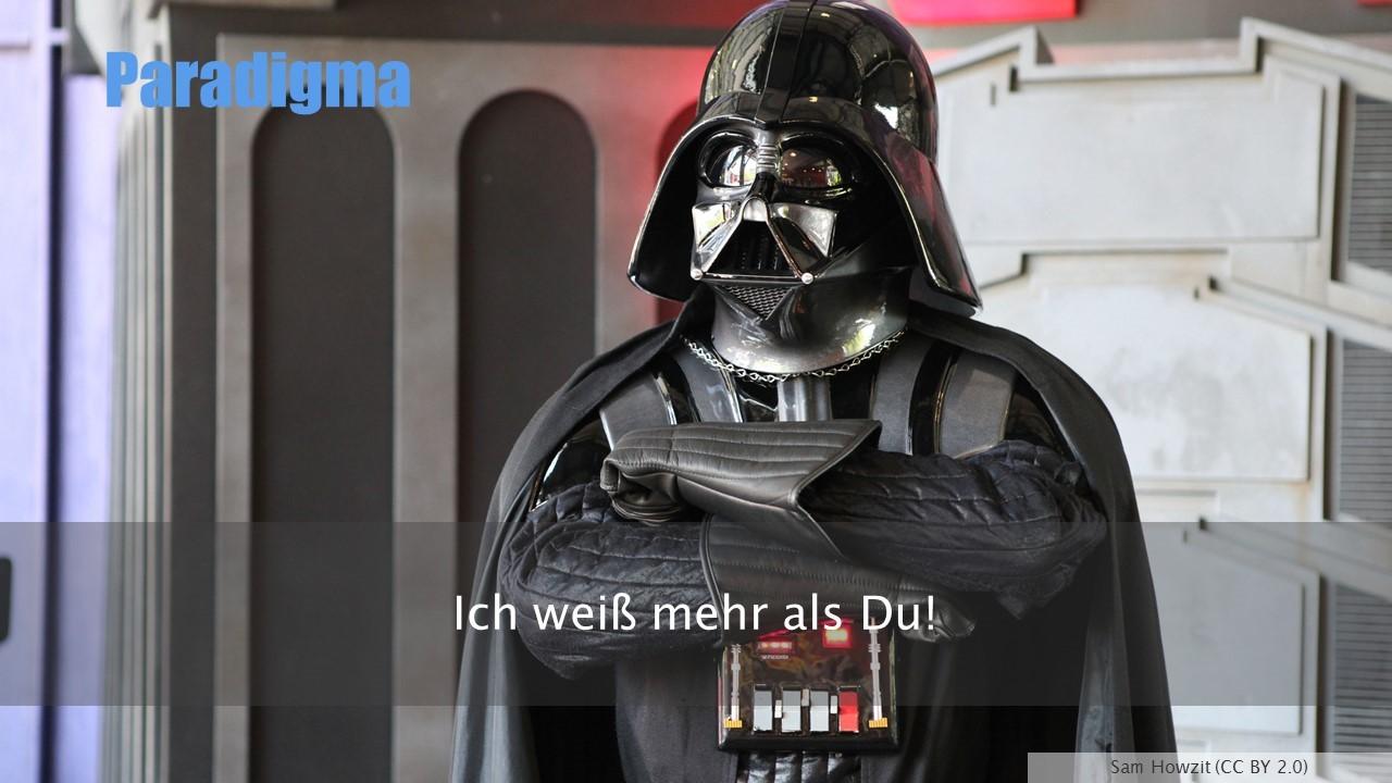 Darth Vader: Ich weiß mehr als Du! - Sam Howzit (CC BY 2.0)