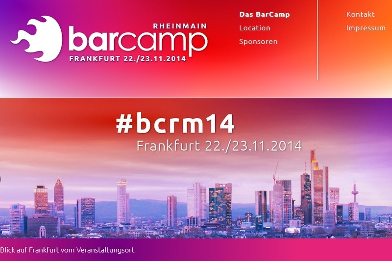BarCamp Rhein-Main 2014 (Bildquelle: frankfurt2014.barcamp-rheinmain.de)