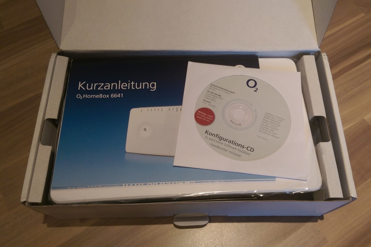 O2 Homebox 6641 (mit Kurzanleitung)