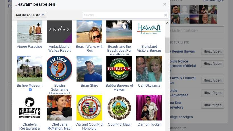 Facebooklisten: Interessenlisten, intelligente Listen, Freundeslisten