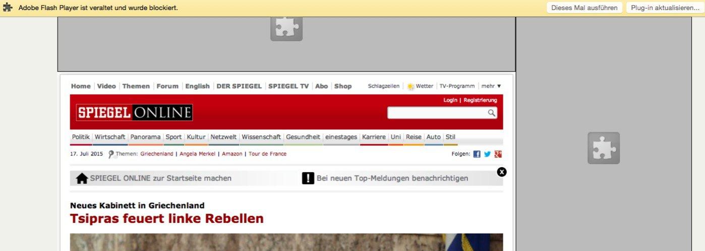 Maxthon blockiert Flashplayer