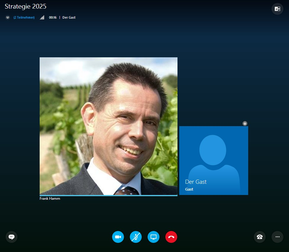 Skype for Business Web App: Drin!