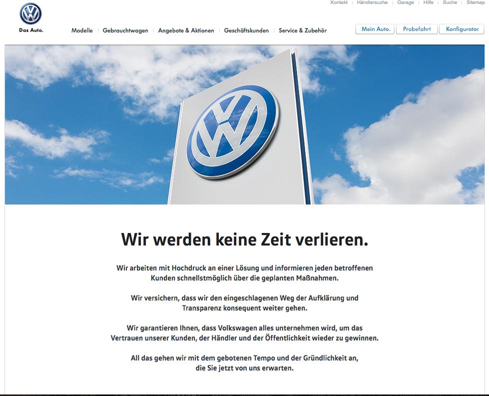 Volkswagen-Dieselgate: Information