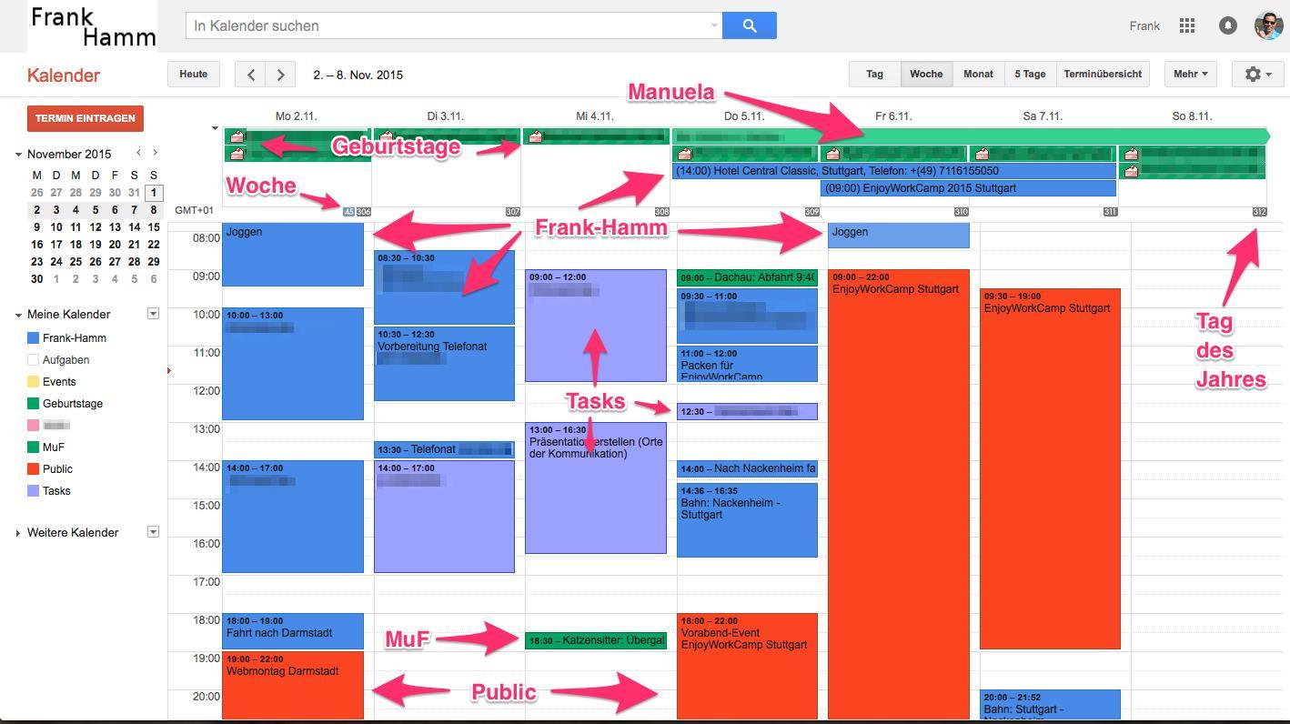 Google-Kalender freigeben und planen