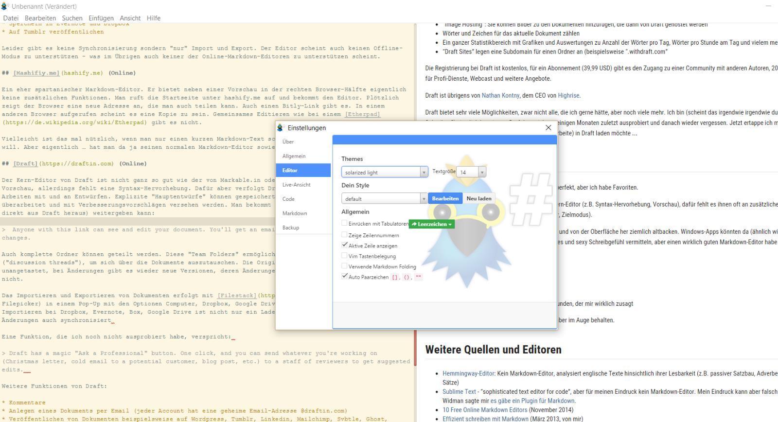 Die besten Markdown-Editoren für Windows, MacOS und Online   INJELEA