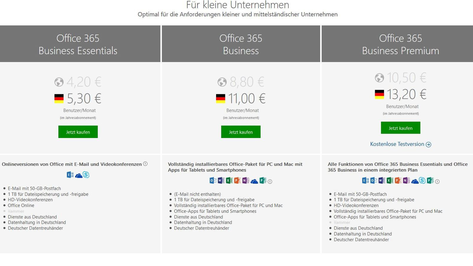 Office365 Deutschland (Quelle: Microsoft)