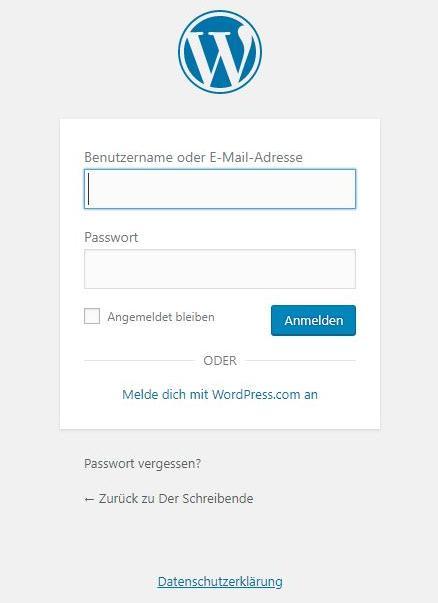 Wordpress: Link zur Datenschutzerklärung auf Loginseite