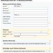 Schufa: Antragsformular für Datenkopie nach Artikel 15 DS-GVO