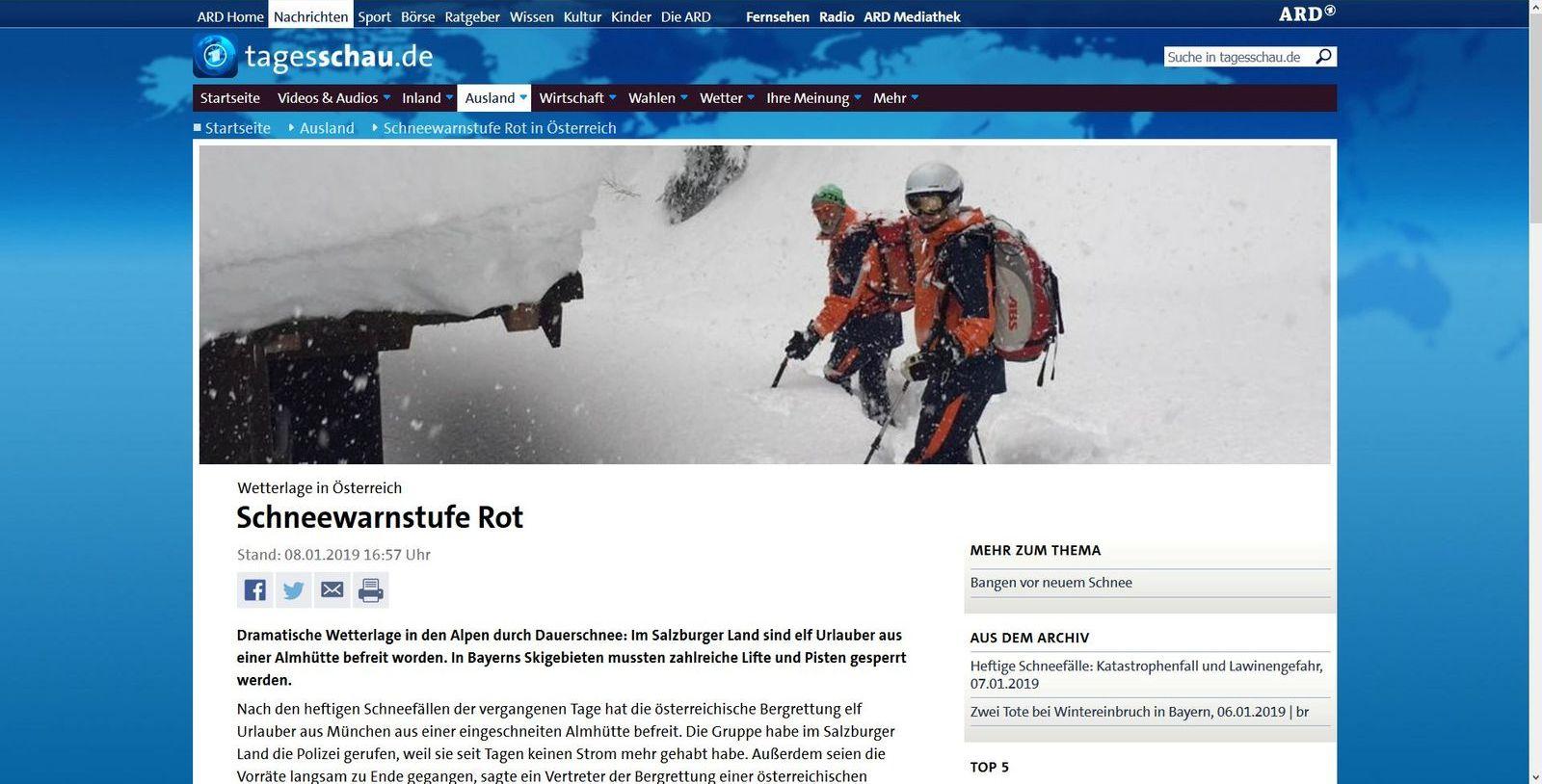 Firefox: Schneewarnstufe Rot in Österreich - Tagesschau.de (1)