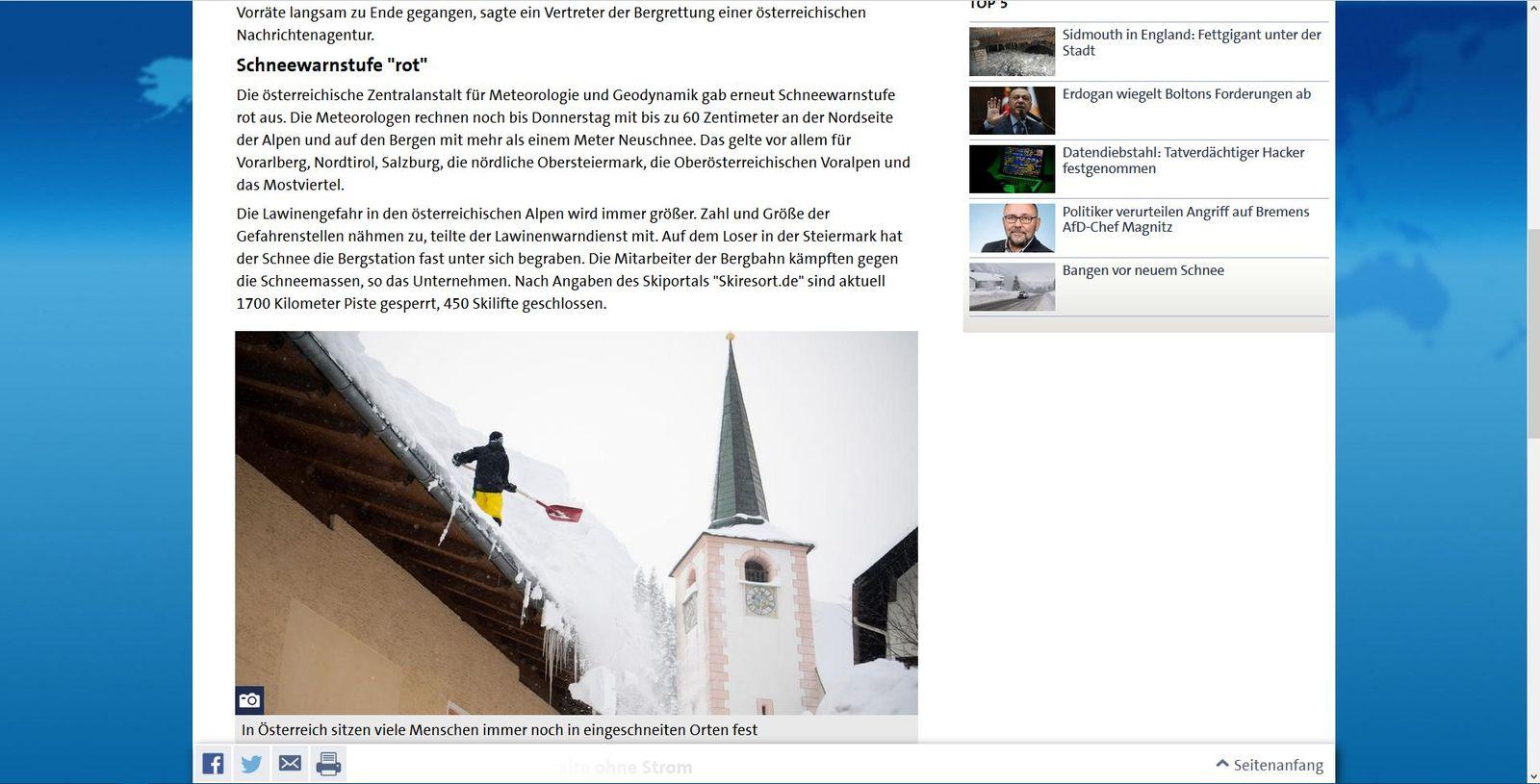 Firefox: Schneewarnstufe Rot in Österreich - Tagesschau.de (2)