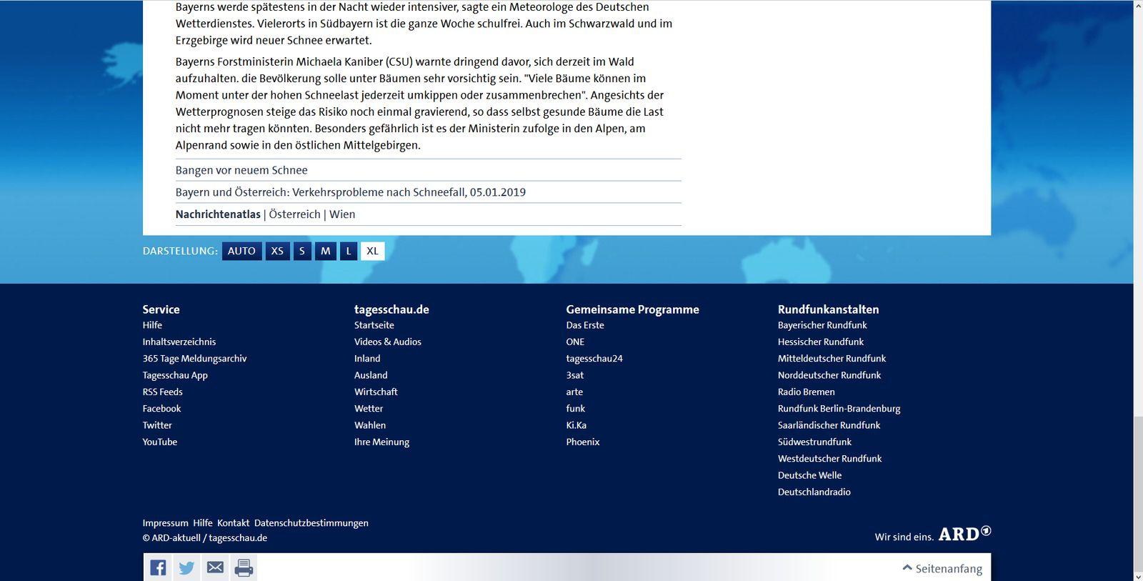 Firefox: Schneewarnstufe Rot in Österreich - Tagesschau.de (4)