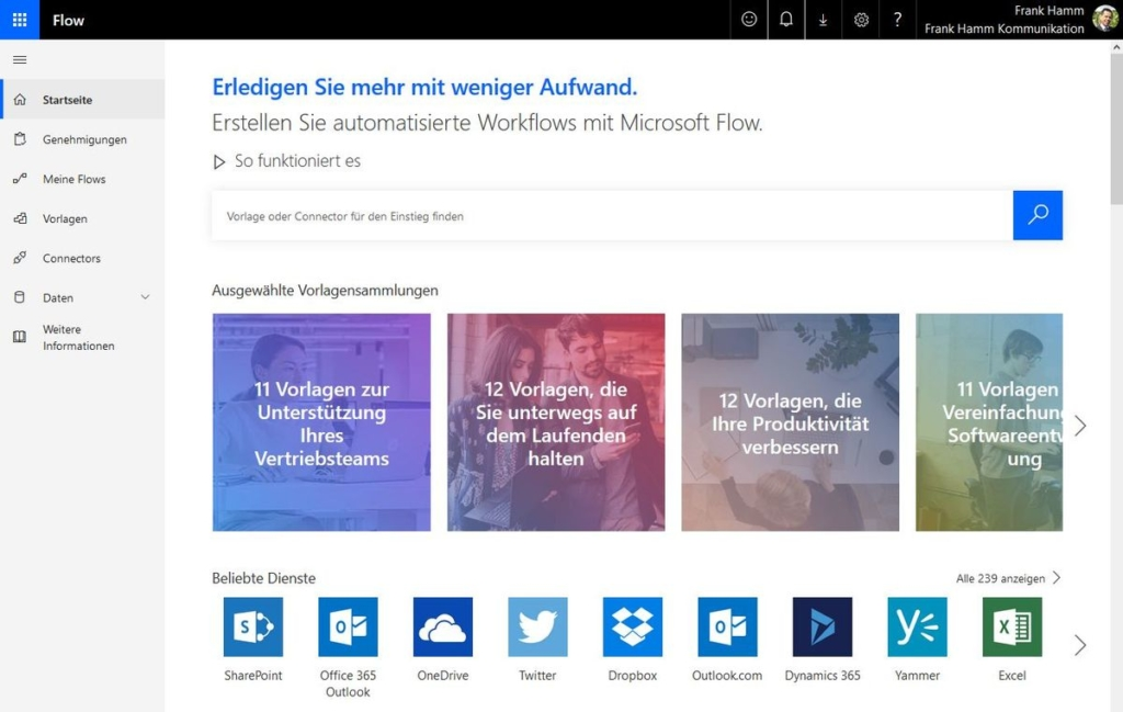 Microsoft Flow: Automatisierte Workflows
